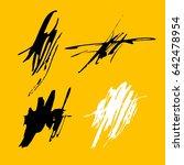 vector brush stroke. grunge ink ... | Shutterstock .eps vector #642478954