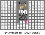 mega set of 100 positive quotes ... | Shutterstock .eps vector #642480568
