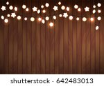 realistic luminous garland... | Shutterstock .eps vector #642483013