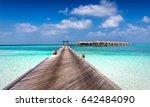 beautiful classic maldives... | Shutterstock . vector #642484090