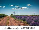 beautiful lavender farm and... | Shutterstock . vector #642485860