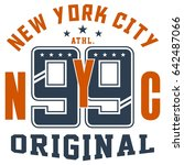 graphic design new york nyc... | Shutterstock .eps vector #642487066