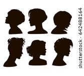 silhouettes of girls short... | Shutterstock . vector #642488164