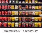 fresh chopped and chunks fruit... | Shutterstock . vector #642489319