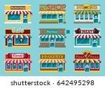 set of vector flat design... | Shutterstock .eps vector #642495298