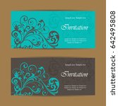 set of vintage invitation cards.... | Shutterstock .eps vector #642495808