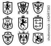 royal shields  nobility... | Shutterstock . vector #642497383