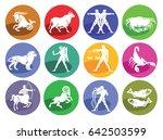 astrology horoscope  icon set ... | Shutterstock . vector #642503599