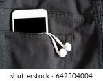 close up of smart phone in back ... | Shutterstock . vector #642504004