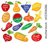 fruit and vegetables color... | Shutterstock . vector #642506086