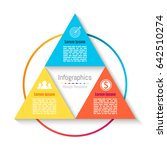 vector triangle infographic... | Shutterstock .eps vector #642510274
