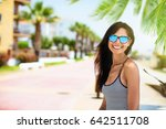 beautiful smiling girl with... | Shutterstock . vector #642511708