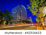 wisconsin avenue at night  in... | Shutterstock . vector #642516613