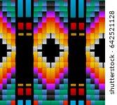seamless ethnic tribal pattern... | Shutterstock .eps vector #642521128