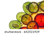 fresh fruit background from the ... | Shutterstock . vector #642521929