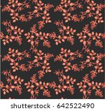 floral print design with... | Shutterstock .eps vector #642522490