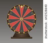wheel of fortune. vector... | Shutterstock .eps vector #642528640