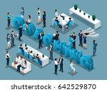 isometric cartoon people vector ... | Shutterstock .eps vector #642529870