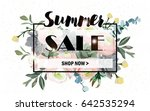 summer sale background with... | Shutterstock .eps vector #642535294