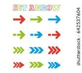 vector colorful arrow stickers. | Shutterstock .eps vector #642537604