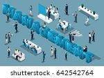 isometric cartoon people  3d... | Shutterstock .eps vector #642542764