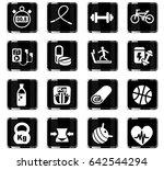 fitness web icons for user... | Shutterstock .eps vector #642544294