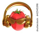 tomato with sun glass and... | Shutterstock . vector #642545398