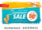 summer sale template banner in... | Shutterstock .eps vector #642550414