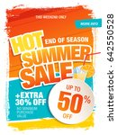 summer sale template banner in... | Shutterstock .eps vector #642550528