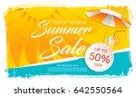 summer sale template banner in... | Shutterstock .eps vector #642550564