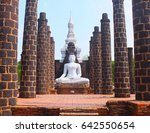 temple at ancient city. this is ... | Shutterstock . vector #642550654