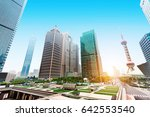 the modern building of the... | Shutterstock . vector #642553540