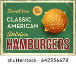 grunge retro metal sign with... | Shutterstock .eps vector #642556678
