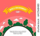 world environment day concept... | Shutterstock .eps vector #642568480