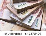 Stack Of 1000 Bath Thai Money   ...