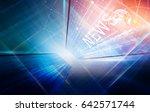 high tech news  studio... | Shutterstock . vector #642571744