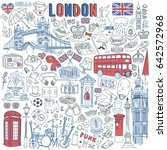 london doodle set. landmarks ... | Shutterstock .eps vector #642572968