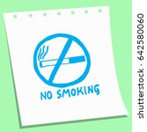 cartoon doodle no smoking sign... | Shutterstock .eps vector #642580060