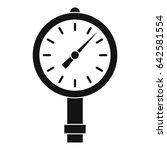 manometer or pressure gauge... | Shutterstock .eps vector #642581554