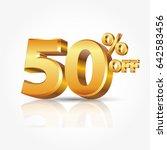 3d vector shiny gold text 50...   Shutterstock .eps vector #642583456