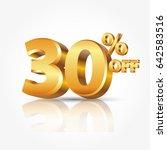 3d vector shiny gold text 30... | Shutterstock .eps vector #642583516