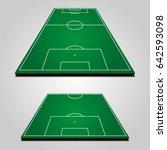 3d football  soccer  fields   Shutterstock .eps vector #642593098