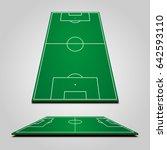 3d football  soccer  fields | Shutterstock .eps vector #642593110