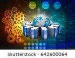 3d rendering database storage... | Shutterstock . vector #642600064