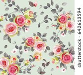 seamless pattern with elegance... | Shutterstock .eps vector #642613594