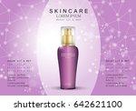spray bottle isolated on purple ... | Shutterstock .eps vector #642621100
