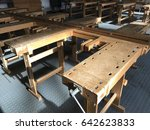wooden workbench. school... | Shutterstock . vector #642623833