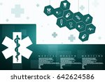 2d illustration medicine... | Shutterstock . vector #642624586