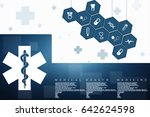 2d illustration medicine... | Shutterstock . vector #642624598