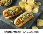 Homemade Slaw Hot Dog With...